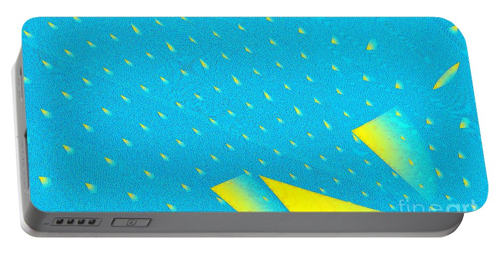 Clay Portable Battery Charger featuring the digital art The Illusion by Clayton Bruster