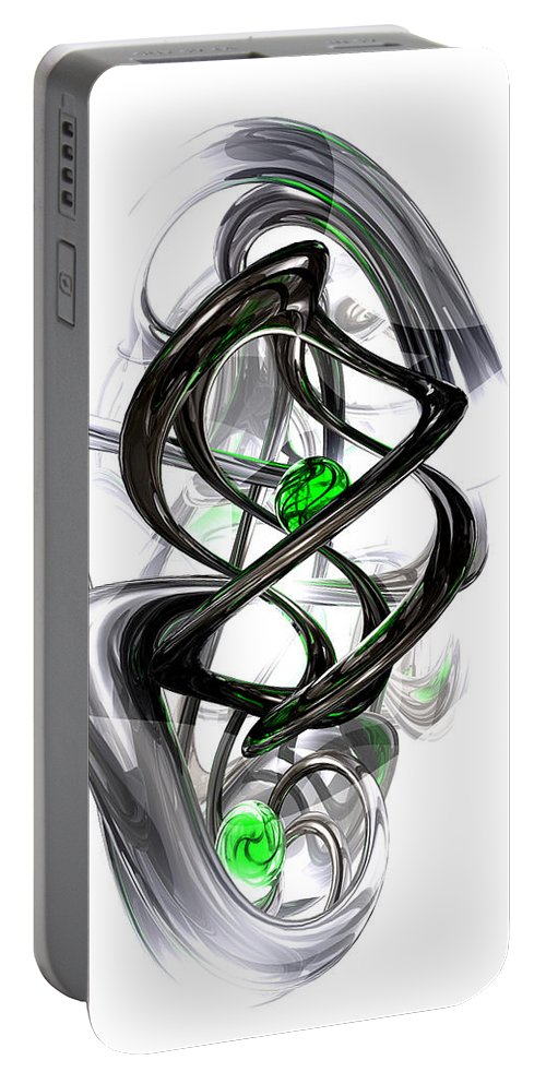 3d Portable Battery Charger featuring the digital art The Inkwell Abstract by Alexander Butler