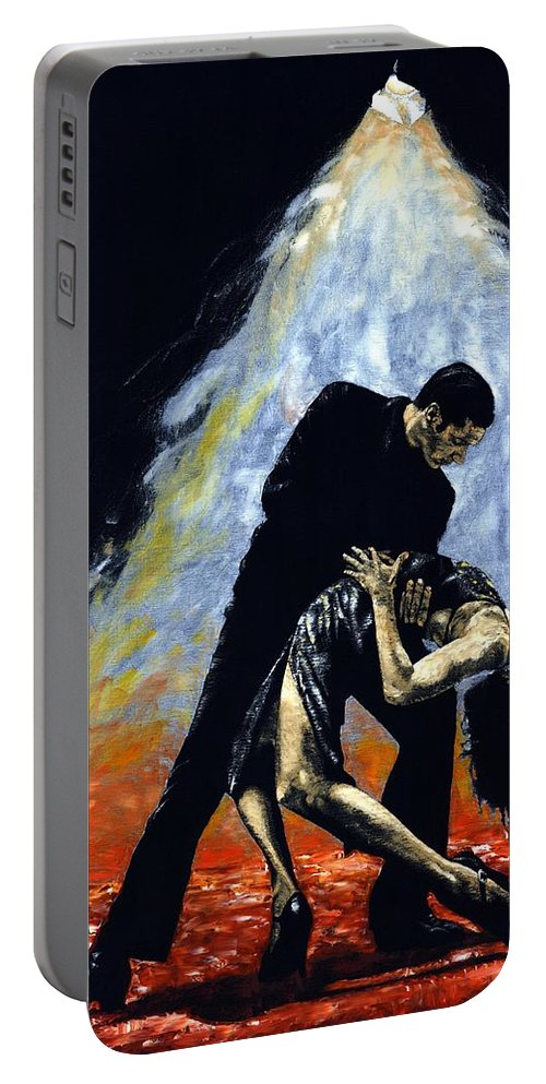 Tango Portable Battery Charger featuring the painting The Intoxication Of Tango by Richard Young