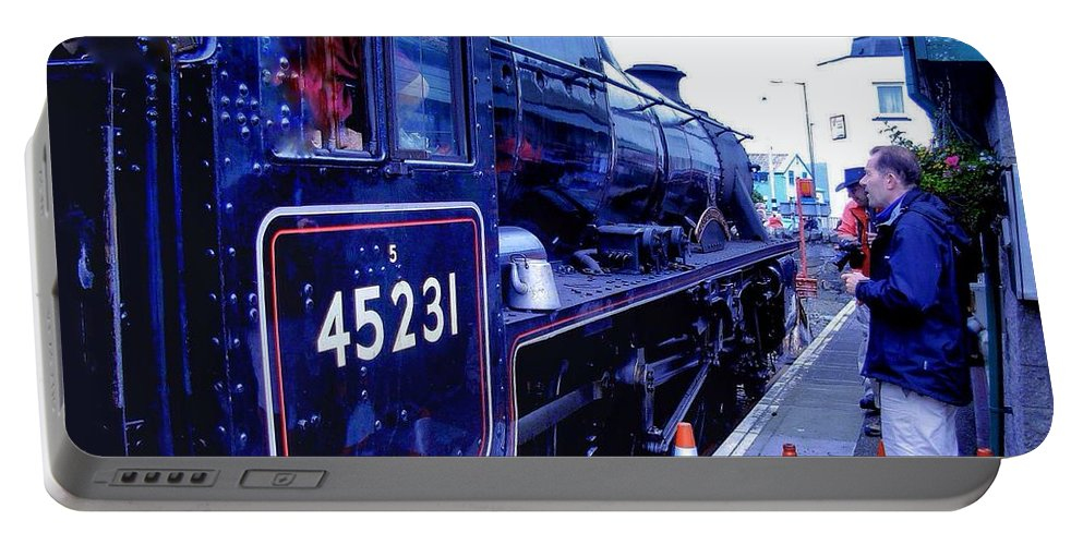 Steam Trains Portable Battery Charger featuring the photograph The Jacobite At Mallaig Station Platform 2 by Joan-Violet Stretch