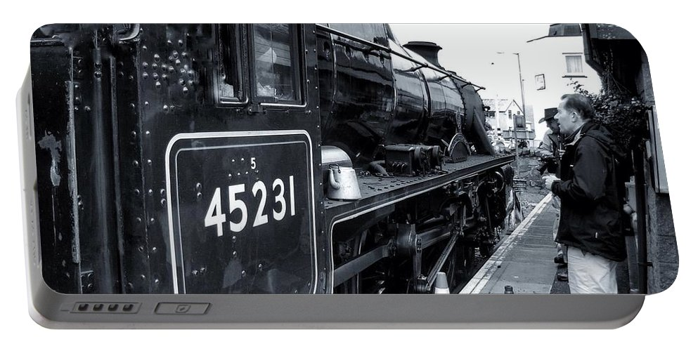 Steam Trains Portable Battery Charger featuring the photograph The Jacobite At Mallaig Station Platform 3 by Joan-Violet Stretch