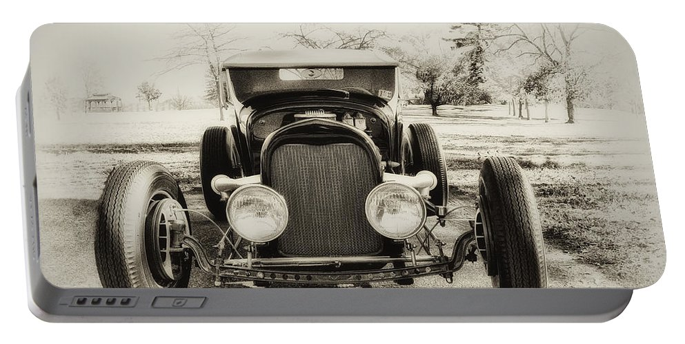 Classic Car Portable Battery Charger featuring the photograph The Jaunty Jalopy by Bill Cannon