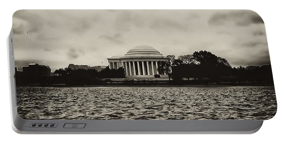 Potomac Portable Battery Charger featuring the photograph The Jefferson Memorial by Bill Cannon