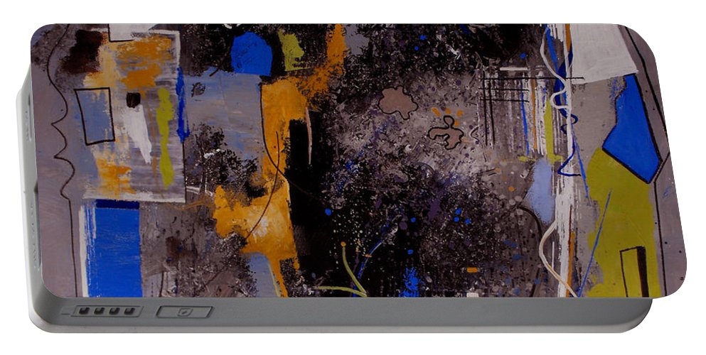 Abstract Portable Battery Charger featuring the painting The Journey by Ruth Palmer