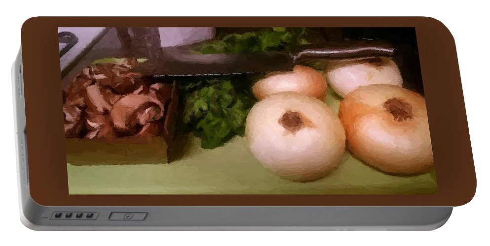 Food Portable Battery Charger featuring the photograph The Joys Of Cooking by J L Hodges