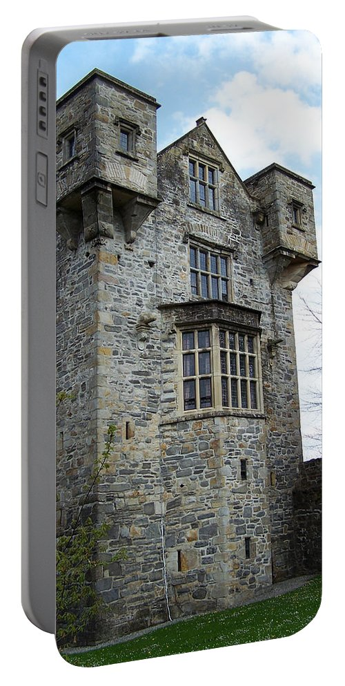 Ireland Portable Battery Charger featuring the photograph The Keep At Donegal Castle Ireland by Teresa Mucha