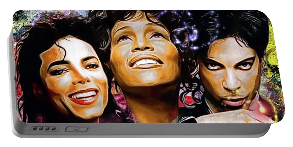 The King The Queen And The Prince Portable Battery Charger featuring the painting The King, The Queen And The Prince by Daniel Janda