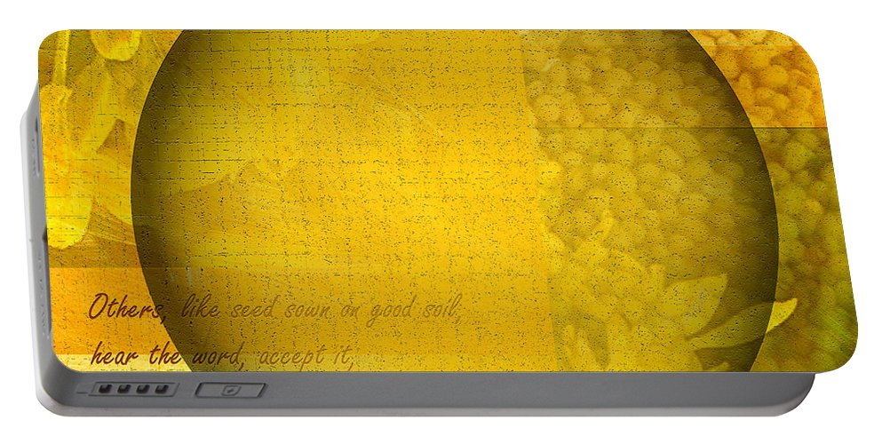 ruth Palmer Portable Battery Charger featuring the digital art The Kingdom Of God Is Like A Mustard Seed by Ruth Palmer