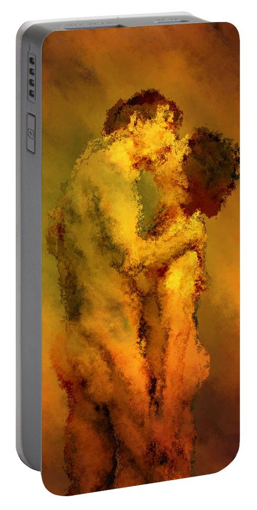 Nudes Portable Battery Charger featuring the photograph The Kiss by Kurt Van Wagner