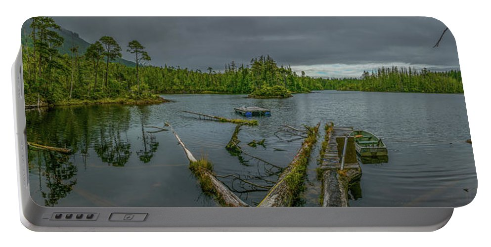 Landscape Portable Battery Charger featuring the photograph The Lake by Jason Brooks