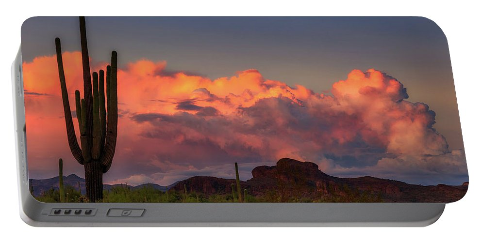 Arizona Portable Battery Charger featuring the photograph The Last Thunderstorm by Rick Furmanek