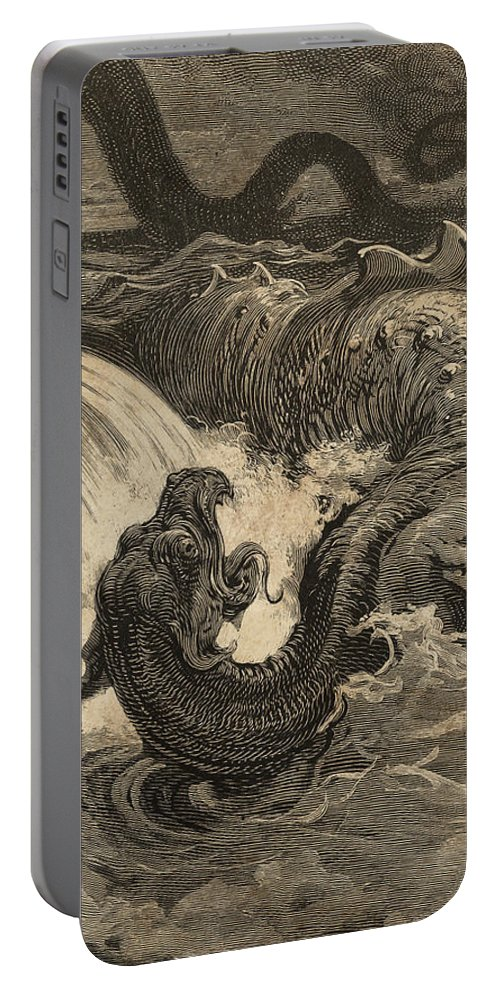 Wall Art Portable Battery Charger featuring the digital art The Leviathan by Laurent P TELIAS
