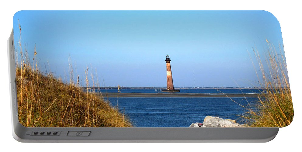 Photography Portable Battery Charger featuring the photograph The Lighhouse At Morris Island Charleston by Susanne Van Hulst