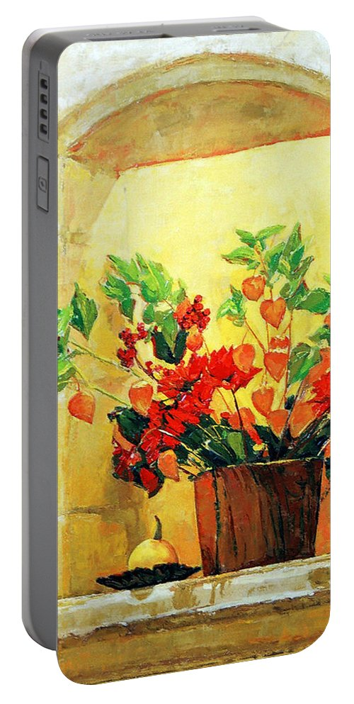 Still Life Portable Battery Charger featuring the painting The Light by Iliyan Bozhanov