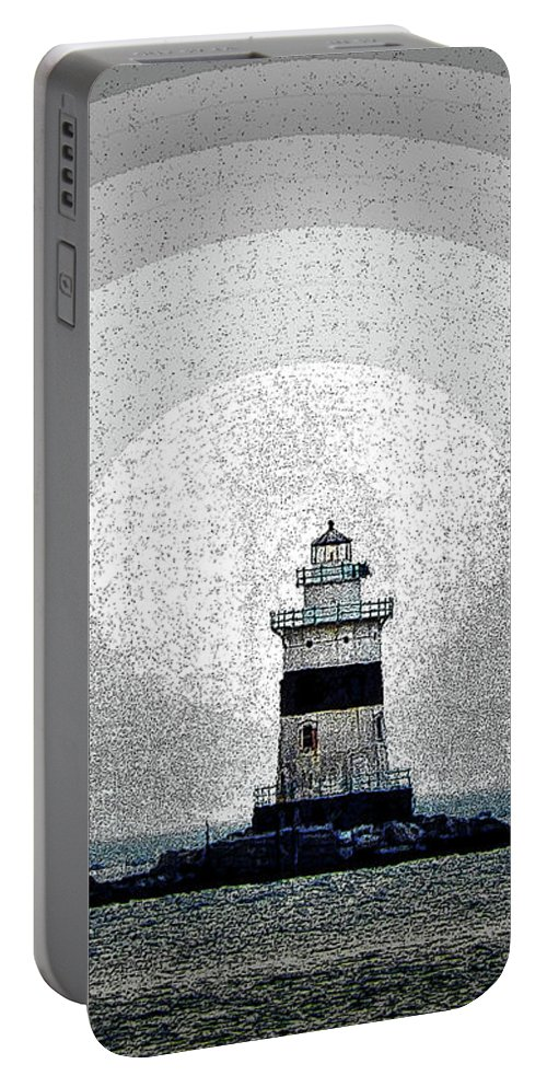 Light House Portable Battery Charger featuring the digital art The Light by Tom Cruickshanks