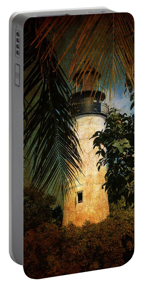 Lighthouse Portable Battery Charger featuring the photograph The Lighthouse In Key West by Susanne Van Hulst
