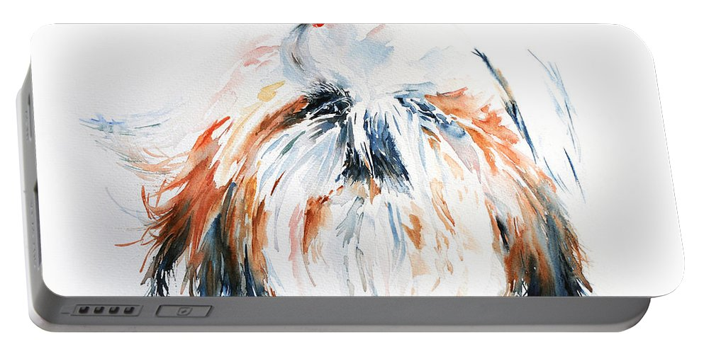 Stephie Butler Portable Battery Charger featuring the painting The Little Horror by Stephie Butler