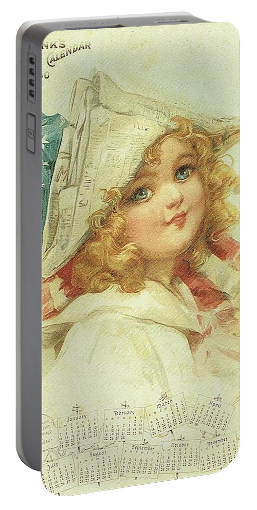 Frances Brundage Portable Battery Charger featuring the painting The Little Patriot by Reynold Jay
