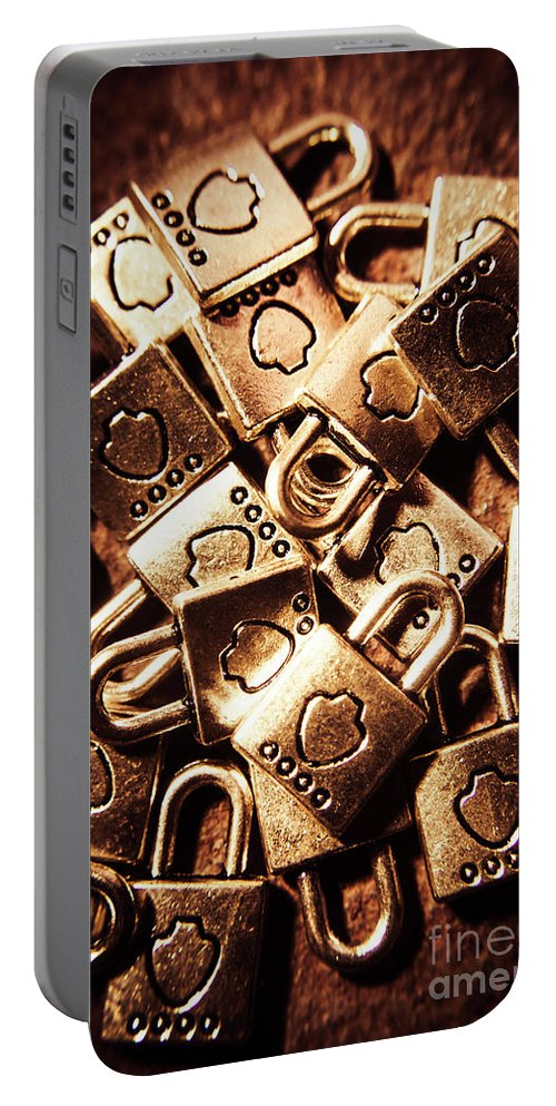 Secured Portable Battery Charger featuring the photograph The Lockery by Jorgo Photography - Wall Art Gallery