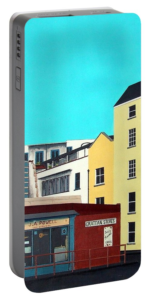 Locksmith Portable Battery Charger featuring the painting The Locksmith by Tony Gunning