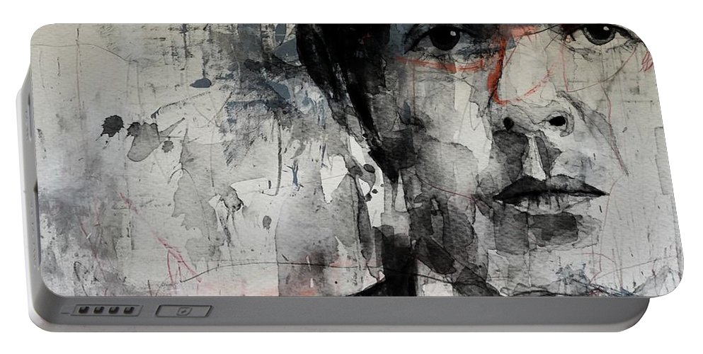 Paul Mccartney Portable Battery Charger featuring the mixed media The Long And Winding Road by Paul Lovering