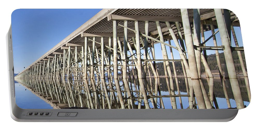 Bridge Portable Battery Charger featuring the photograph The Long Bridge by Albert Seger