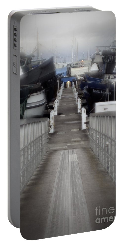 Art Portable Battery Charger featuring the photograph The Long Walk To Work by Clayton Bruster