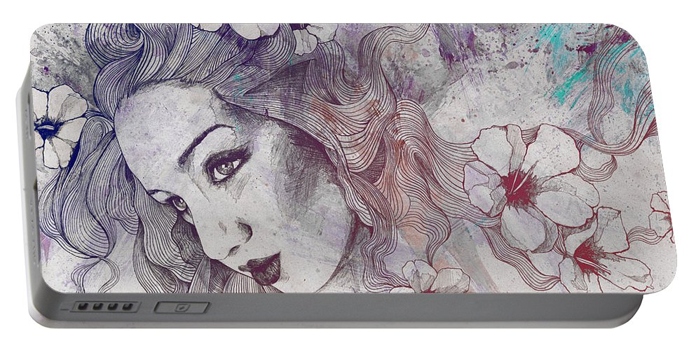 Pencil Portable Battery Charger featuring the drawing The Lowest Common Denominator - Rainbow by Marco Paludet