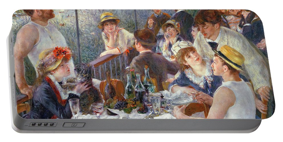The Portable Battery Charger featuring the painting The Luncheon of the Boating Party by Pierre Auguste Renoir