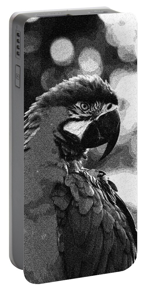 The Macawnature Portable Battery Charger featuring the painting The Macaw by Celestial Images