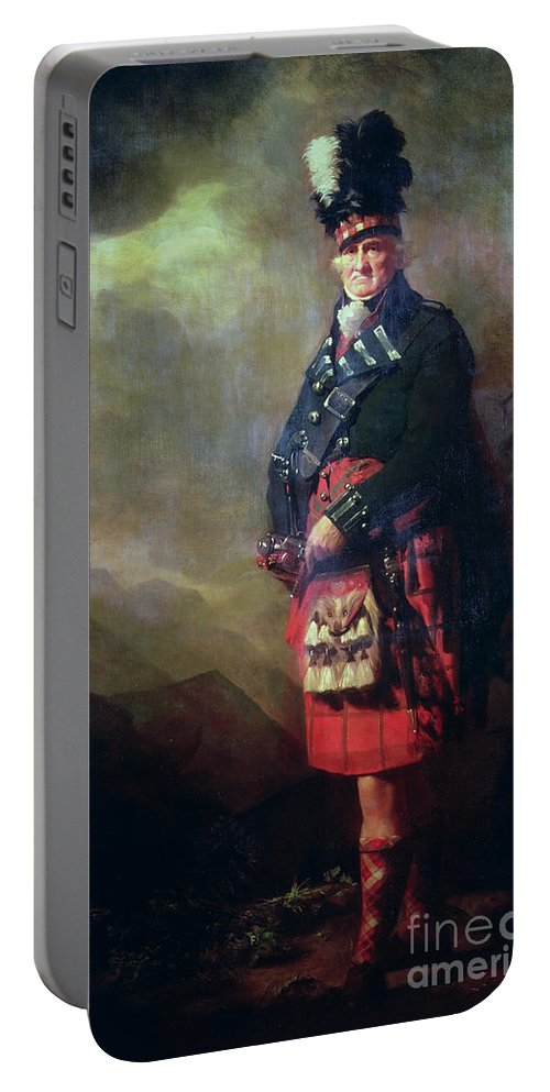 Kilt Portable Battery Charger featuring the painting The Macnab by Sir Henry Raeburn