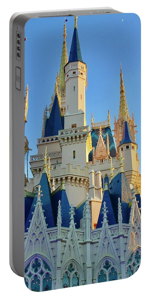 Skyscape Portable Battery Charger featuring the photograph The Magic Castle by Lorna Maza