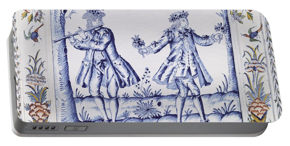 Plaque Portable Battery Charger featuring the painting The Magic Flute by French School
