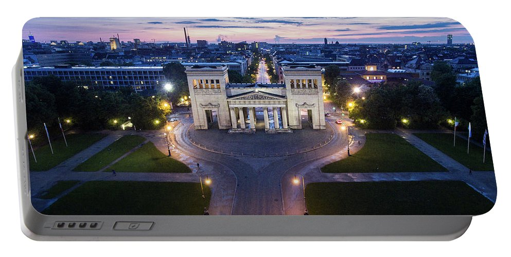 Dji Portable Battery Charger featuring the photograph The Majestic Koenigplatz by Hannes Cmarits