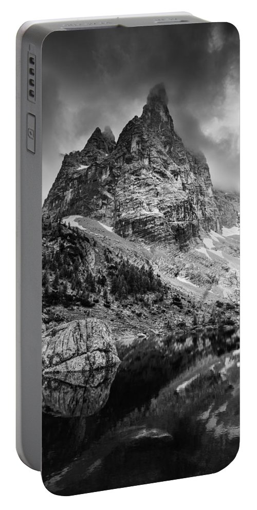Alps Portable Battery Charger featuring the photograph The Majesty Of Mountains by Yuri Santin