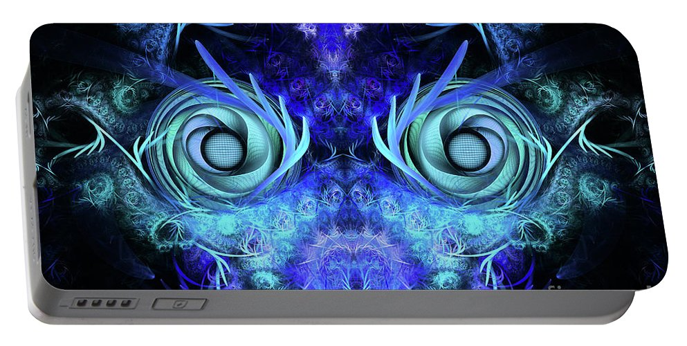 Mask Portable Battery Charger featuring the digital art The Mask by John Edwards