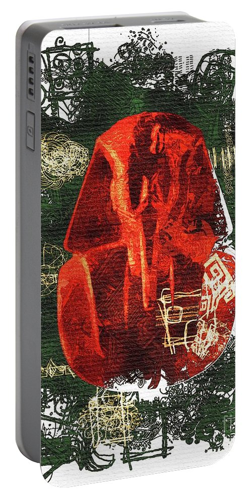 Tutankhamun Portable Battery Charger featuring the painting The Mask Of Tutankhamun by Sarah Kirk