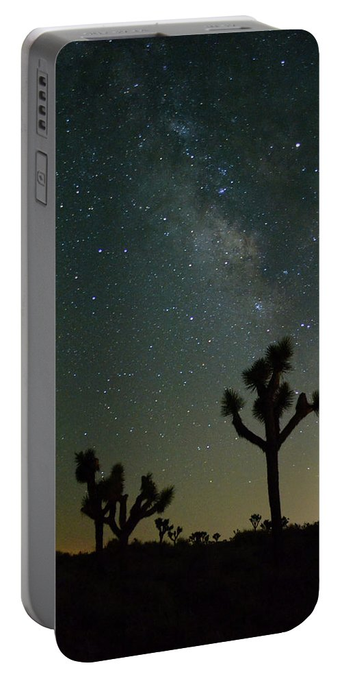 Milky Way Portable Battery Charger featuring the photograph The Milky Way And Joshua Trees by Patricia Quandel