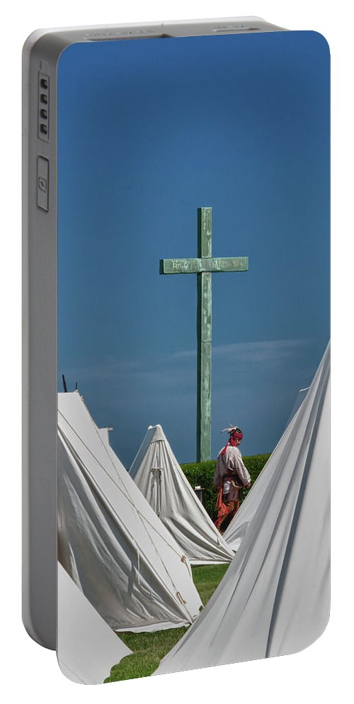 Guy Whiteley Photography Portable Battery Charger featuring the photograph The Millet Cross 6579 by Guy Whiteley