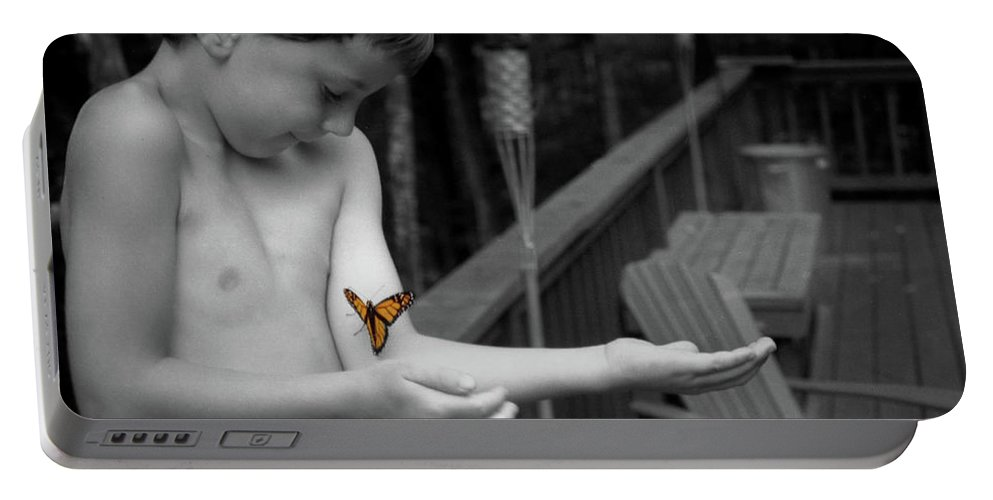 Boy Portable Battery Charger featuring the photograph The Monarch by Wayne King