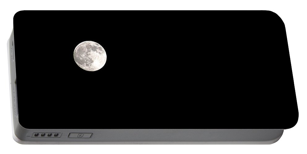 Clay Portable Battery Charger featuring the photograph The Moon by Clayton Bruster
