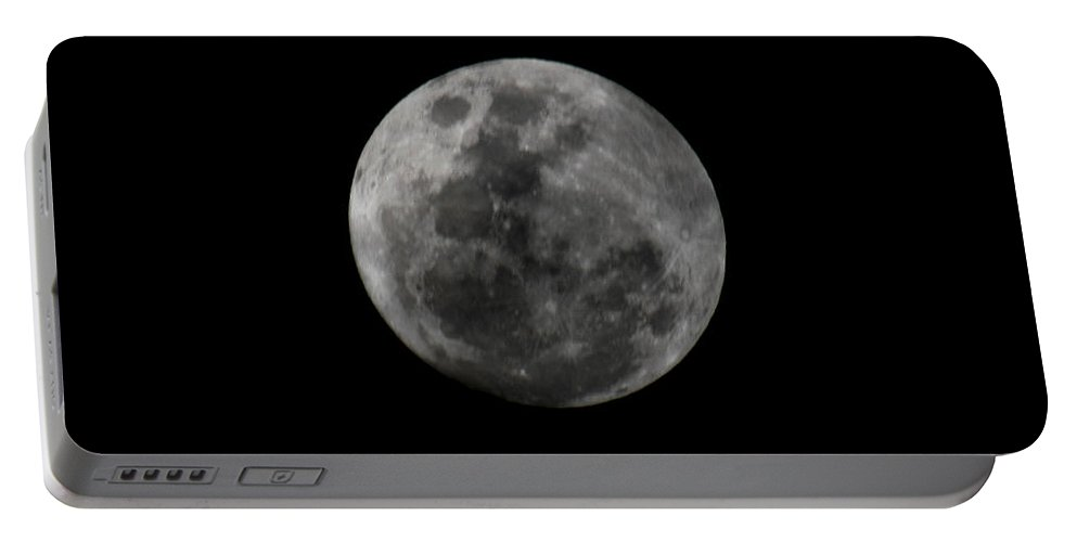 The Moon Portable Battery Charger featuring the photograph The Moon - La Luna 7 by Totto Ponce