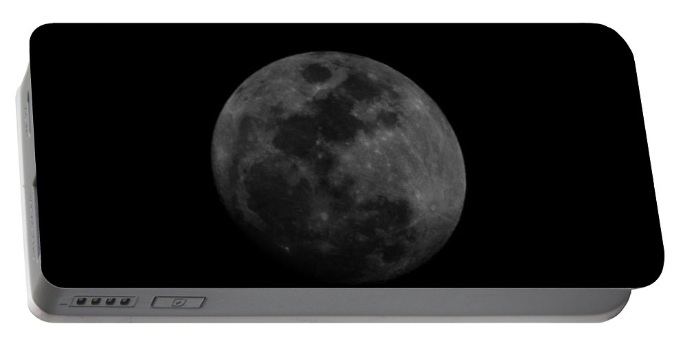 The Moon Portable Battery Charger featuring the photograph The Moon - La Luna by Totto Ponce