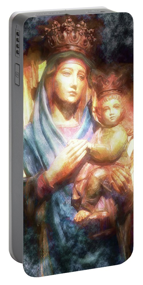 Queenship Portable Battery Charger featuring the photograph The Mother Of The King Is Queen by Davy Cheng