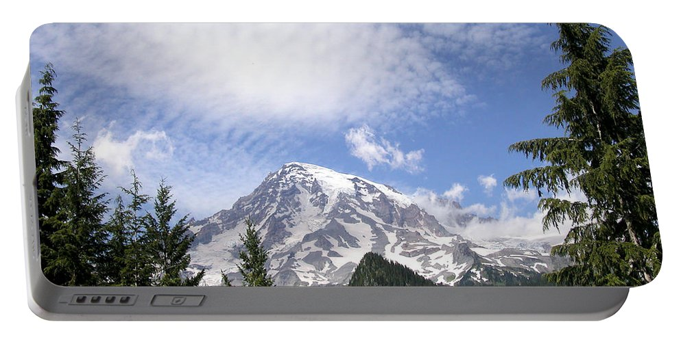 Mountain Portable Battery Charger featuring the photograph The Mountain Mt Rainier Washington by Michael Bessler