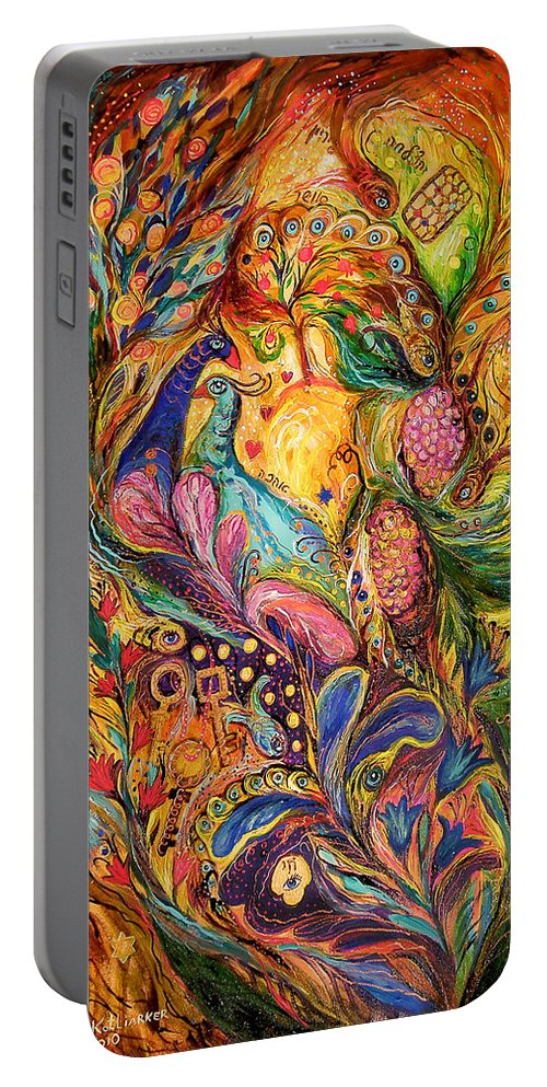 Original Portable Battery Charger featuring the painting The Mystery Of Three Keys by Elena Kotliarker