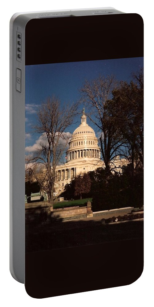 Capitol Building Portable Battery Charger featuring the photograph The Nation's Capitol by Lauri Novak
