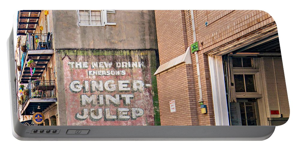 Nola Portable Battery Charger featuring the photograph The New Drink by Steve Harrington