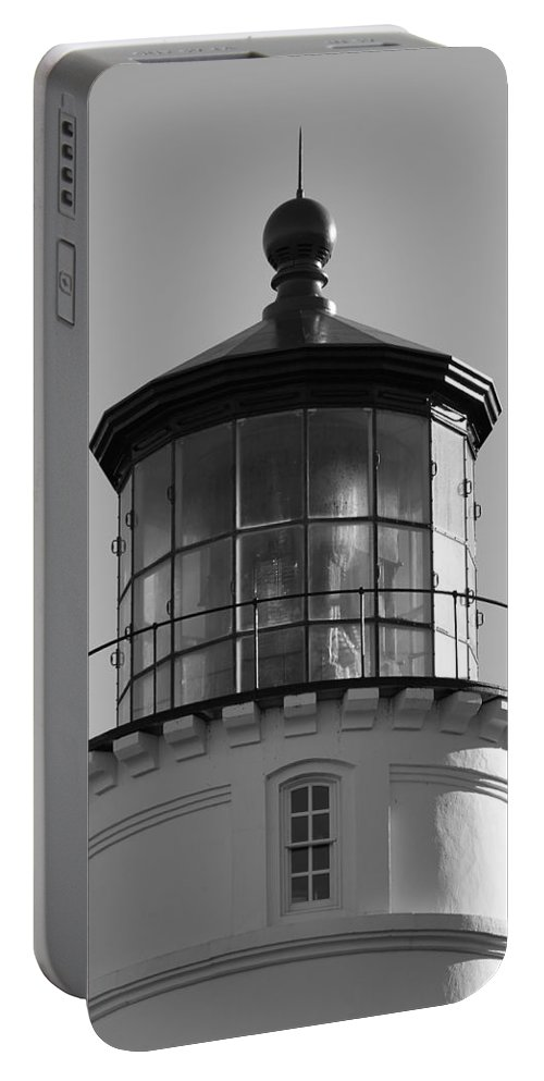 Lighthouse Portable Battery Charger featuring the photograph The Night Light by Laddie Halupa