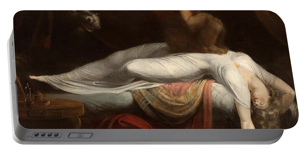 The Portable Battery Charger featuring the painting The Nightmare by Henry Fuseli